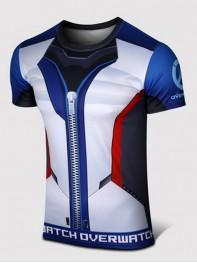 Overwatch Soldier:76 Spandex/Lycra Cosplay T-shirt