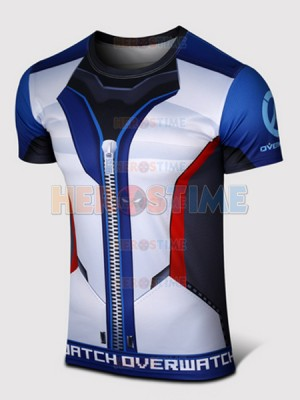 Overwatch Soldier:76 Spandex/Lycra Cosplay T-shirt