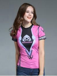 Overwatch Widowmaker Spandex/Lycra Cosplay T-shirt