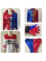 NEW movie Suicide Squad Harley Quinn Cosplay Costume Female Superhero Costume