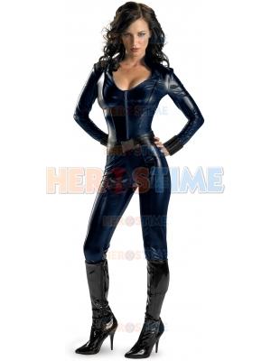 Iron Man 2 Black Widow Shiny Metallic Superhero Costume