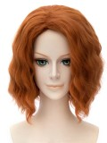 The Avengers Natasha Romanoff Black Widow Short Curly Auburn Wig