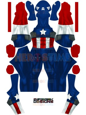 Captain America Costume Classic Captain America Version No Boots