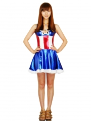 Captain America Style Female Version Superhero Costume
