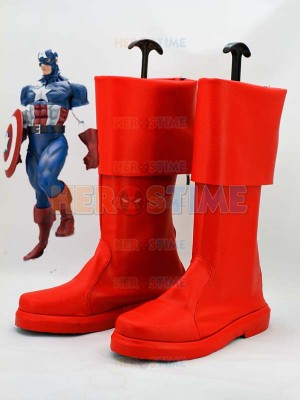 Captain America Marvel The Avenger Superhero Boots
