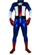 Shiny Metallic Captain America Superhero Costume