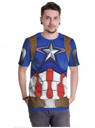 Couple The Avengers 2 Age of Ultron Captain America Sports GYM Shirt