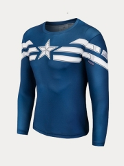 First Version Captain America Superhero Dry Quick Top