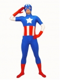 Marvel The Avengers Captain America Spandex Superhero Costume