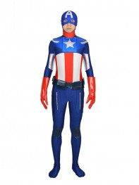 Captain America Spandex Superhero Costume