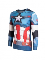 Newest Captain America New Men's 3D Quick Dry T-shirt