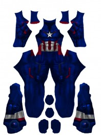 Captain America Costume Age of Ultron Version Costume No Head Piece