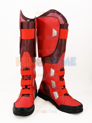 The Avengers Captain America Superhero Mens Red Cosplay Boots