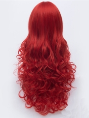 80cm Red Curve Firestar Female Superhero Wig