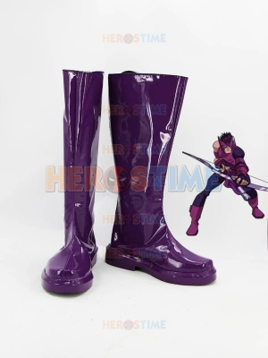 Marvel Comics Hawkeye Purple Superhero Boots