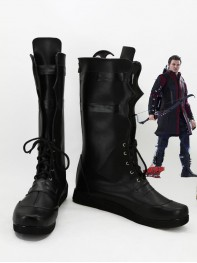 The Avengers Hawkeye Superhero Black Cosplay Boots