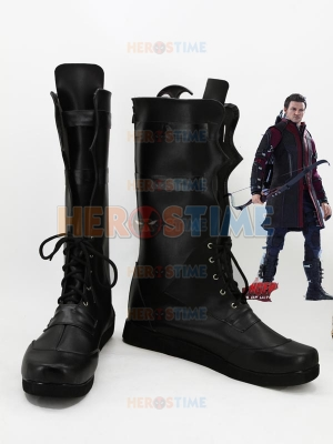Marvel Comics The Avengers Hawkeye Superhero Black Cosplay Boots