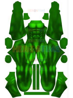 Classic Hulk Green Muscle Shade Printed Suit No Mask
