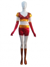 Iron Man Ironette Shiny Metallic Superhero Costume