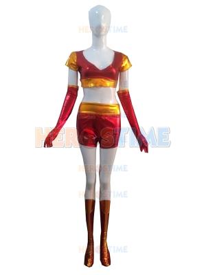 Iron Man Ironette Shiny Metallic Superhero Costume