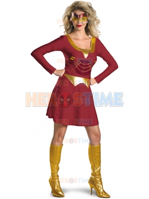 Iron Woman Spandex Superhero Costume