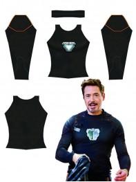 Tony Stark Arc Reactor Avengers Infinity War Printing Spandex Shirt