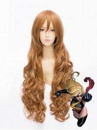 80cm MsMarvel Long Superhero Wig