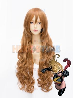 80cm Ms. Marvel Marvel Superhero Wig