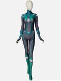 Captain-Marvel Movie Carol Danvers Green Version 3D Printing Superhero Costume