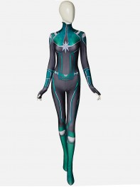 Captain Marvel Movie Carol Danvers Green Version 3D Printing Superhero Costume