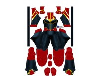 Captain Marvel Ms. Marvel Cosplay Costume