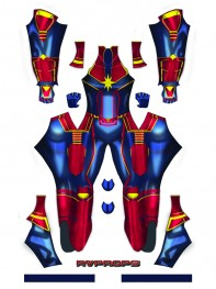 Marvel's Captain Marvel Movie Version 3D Printing Superhero Costume