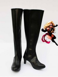 Marvel Comics Ms. Marvel Black Superhero Boots