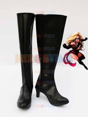 Marvel Comics Ms. Marvel Black Superhero Boots