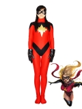 Marvel Comics Ms. Marvel Red Spandex Superhero Costume
