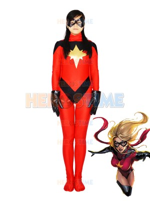 Marvel Comics Ms. Marvel Red Spandex Superhero Costume
