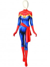 Ms. Marvel Carol Danvers Cosplay Costume