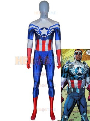 Captain America Costume Captain America Sam Wilson Falcon Suit