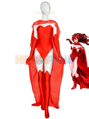 2019 Sexy Scarlet Witch Female Super Spandex Cosplay Costume