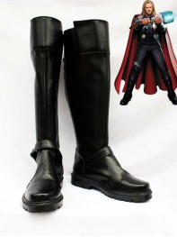 Marvel Comics Thor Black Superhero Cosplay Boots