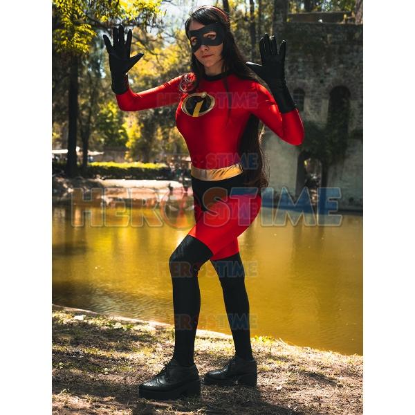 Incredibles 2 Elastigirl Helen Parr Costume Cosplay Ladies Superhero Outfits
