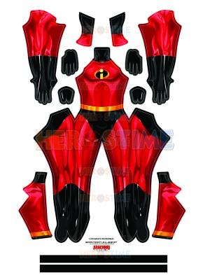 The Incredibles 2 Mr. Incredible Printing Superhero Costume