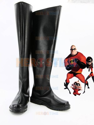 The Incredibles Black Male Superhero Cosplay Boots