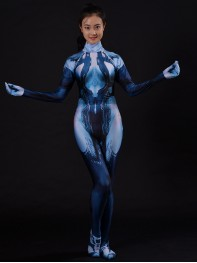 Halo Cortana Costume Video Game Girl Cortana Cosplay Suit