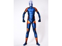 Cyborg Ninja Gray Fox Costume Blue Cosplay Suit