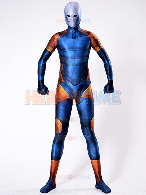 Cyborg Ninja Gray Fox Costume Blue Cosplay Suit