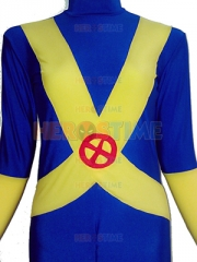 Blue & Yellow X-Men Cyclops Spandex Superhero Costume