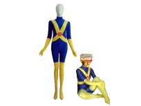 Blue & Yellow X-Men Cyclops Spandex Superhero Costume