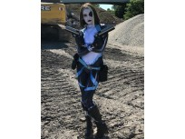 Domino Neena Thurman X-force Printing Superhero Cosplay Costume