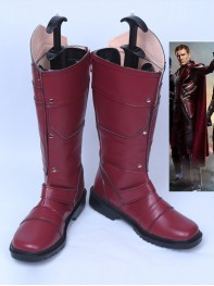 X-men Magneto Dark Red Cosplay Superhero Boots